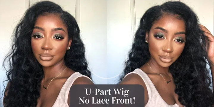 u part wig without lace front