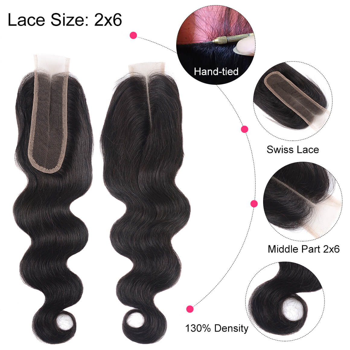 2*6 Lace Closure Body Weave
