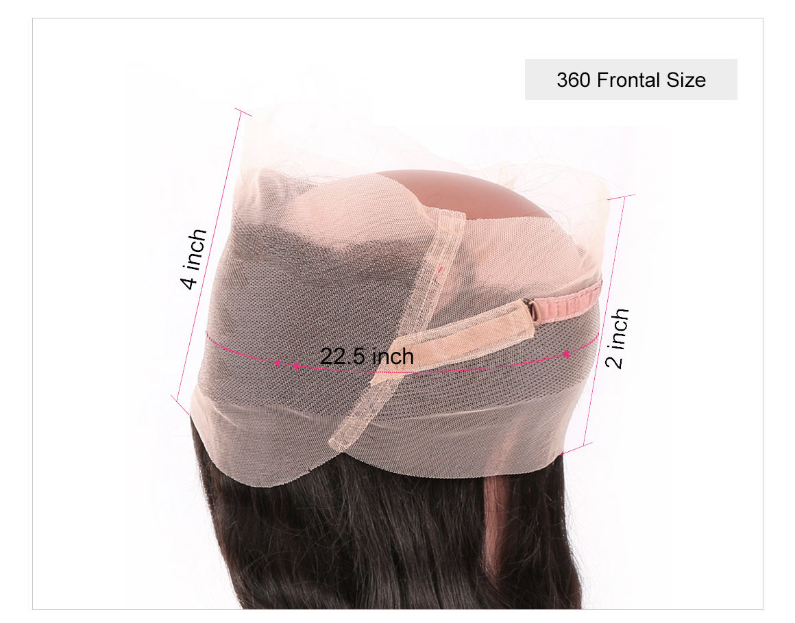 Virgin Hair 360 Frontal Closure