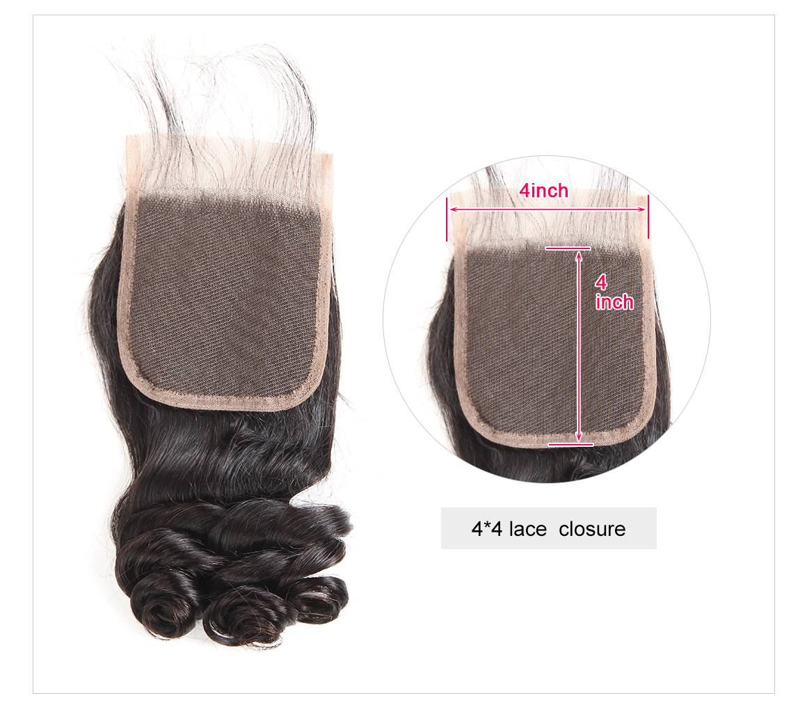 4*4 Lace Closures Hair Human Hair
