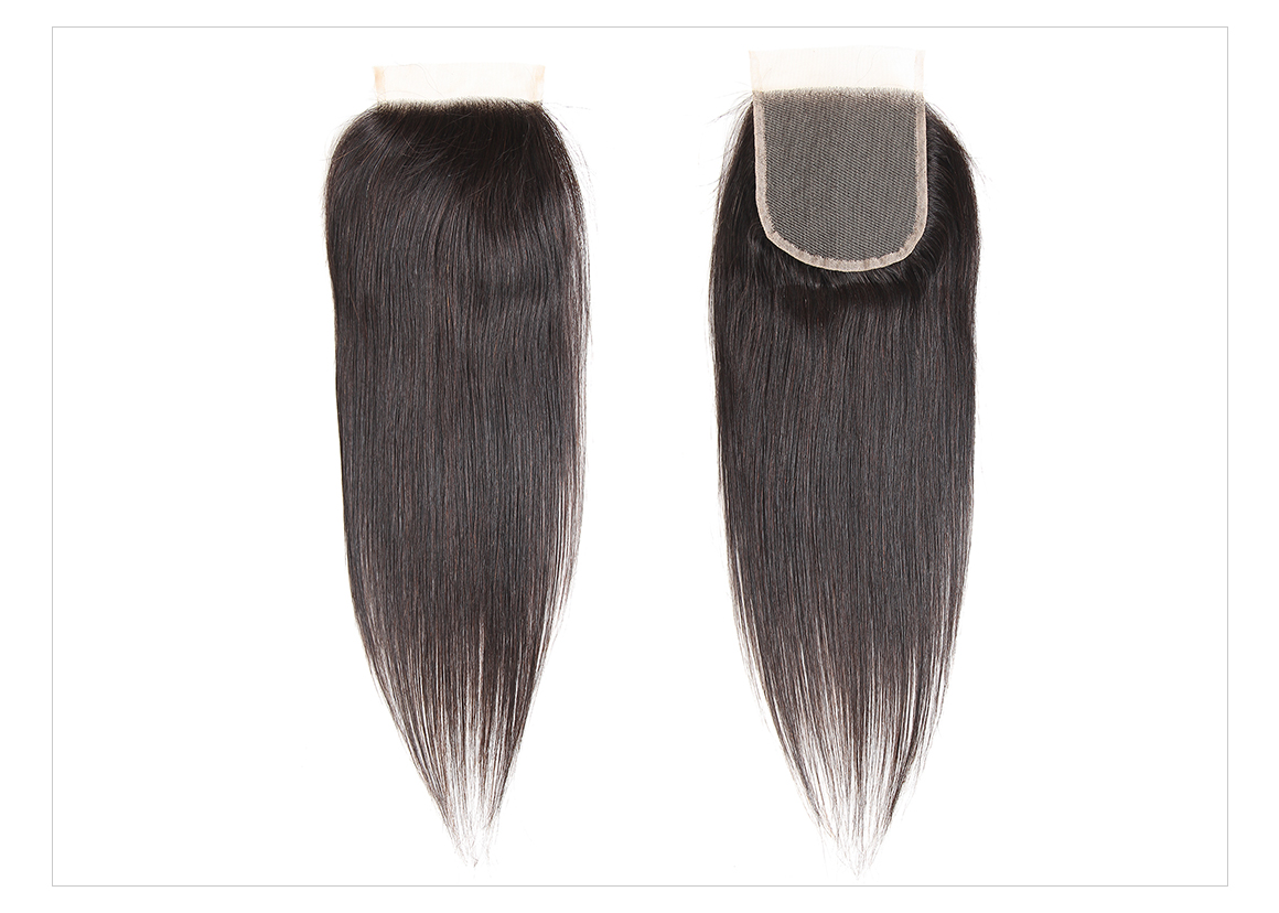 Virgin Straight Hair Lace Closures