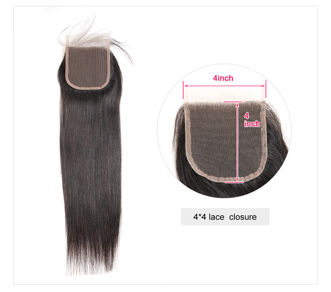 4*4 Lace Closures