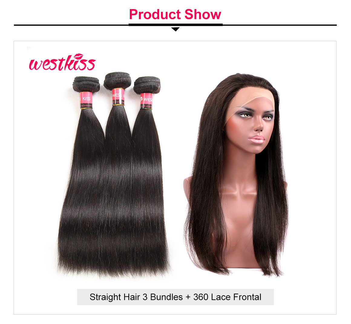 Straight Hair With 360 Frontal
