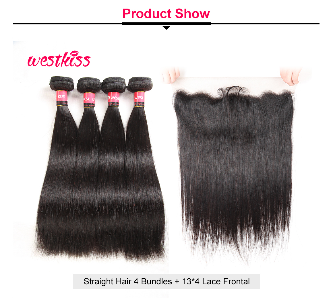 Straight Hair Weave With Lace Frontal