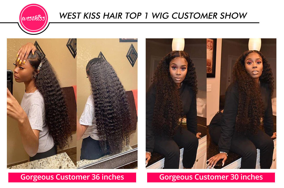 Long Wigs Curly Hair Wigs 20 40 Inches Quality Curly Lace Front Wigs With Baby Hair For Women West Kiss Hair